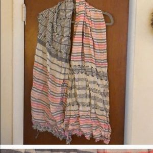 Anthropology Striped colorful scarf
